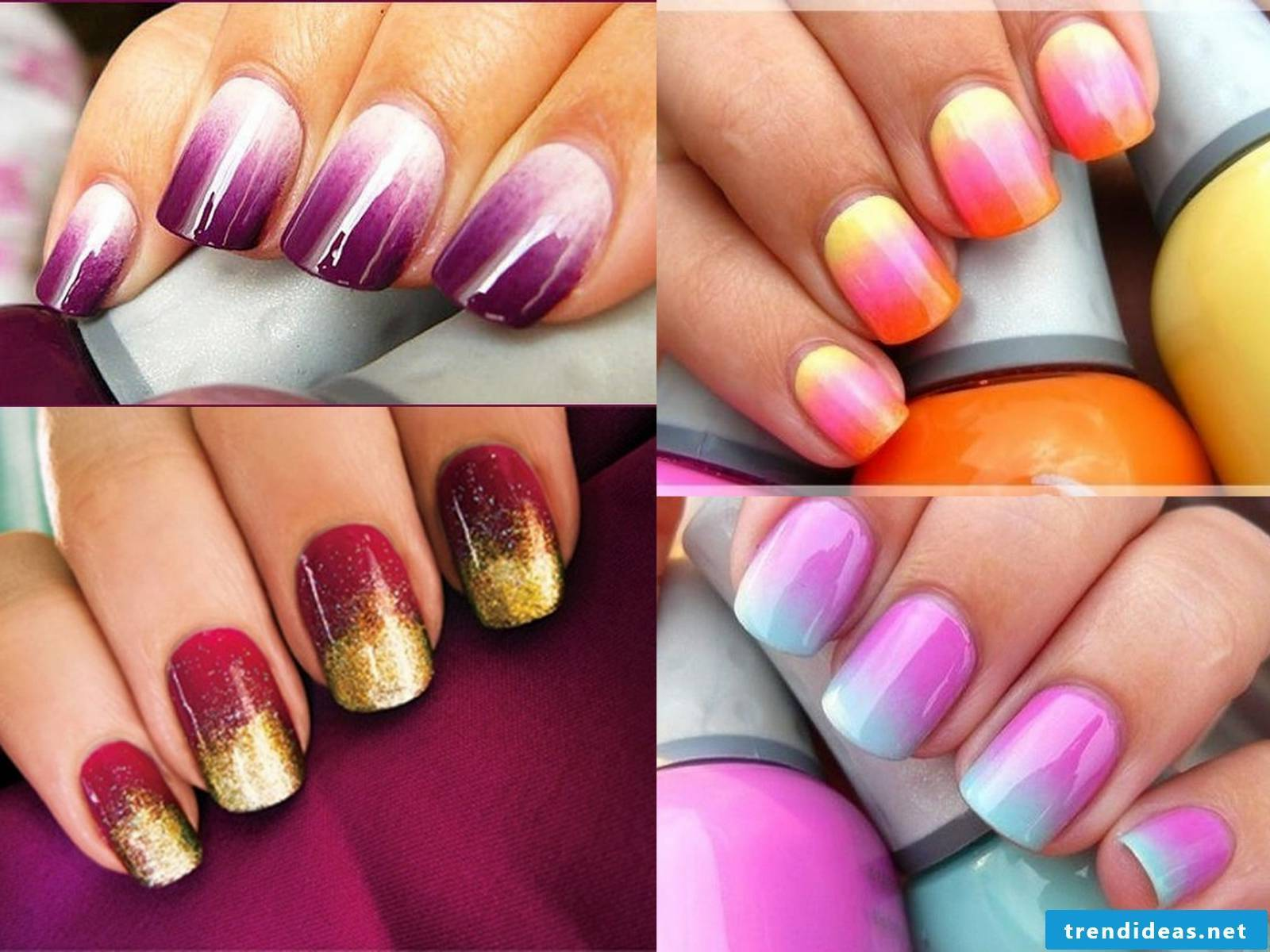 Ombre nail design - a nice decision
