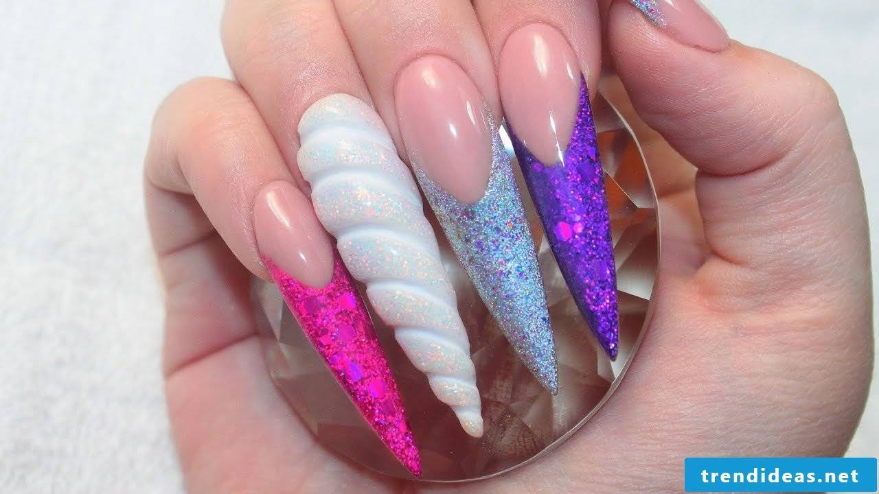 Nail shape can vary, even be so pointed