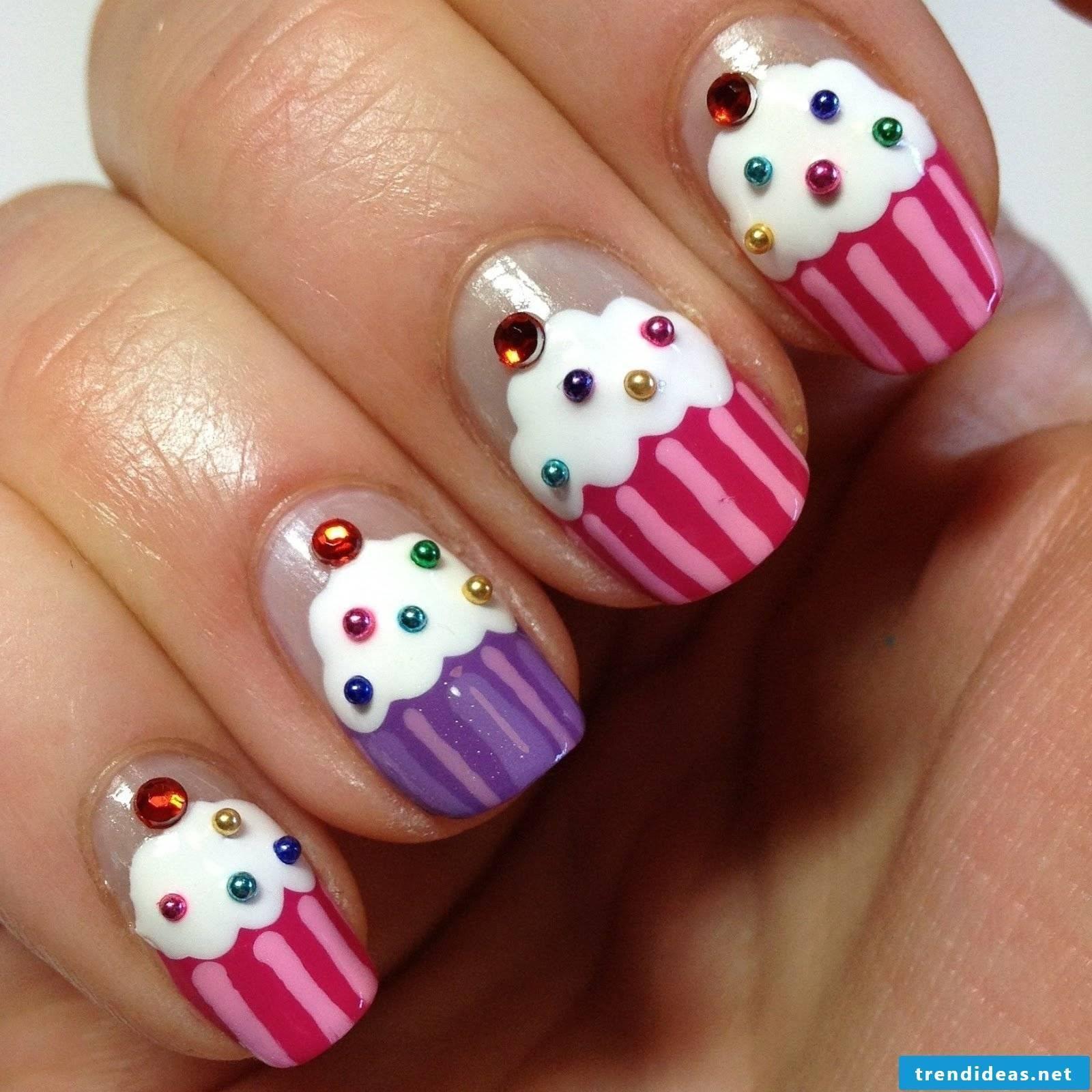 Muffin Nail Design