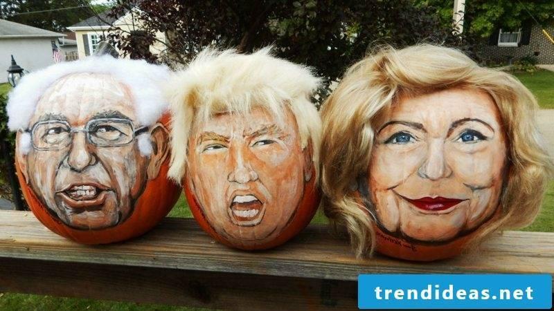 Pumpkin painting candidate pumpkins