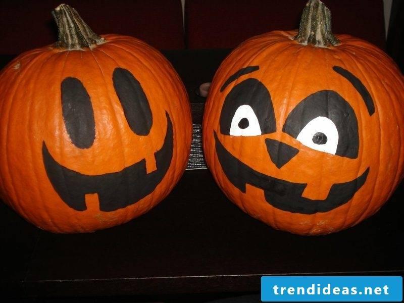 Pumpkin Painted Faces