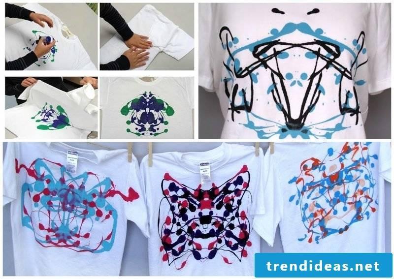 Paint T-shirt with splash effect
