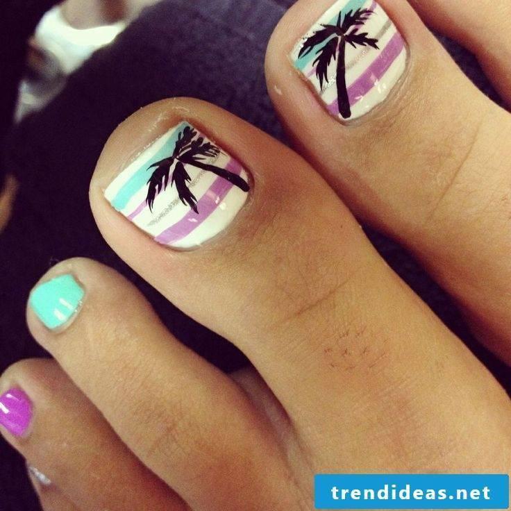 Paint toenails properly