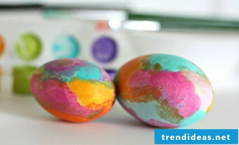 Easter eggs painted with children's stains gorgeous look