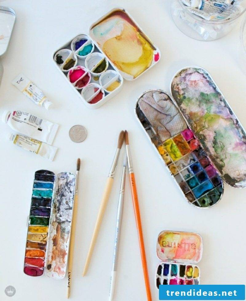 Easter eggs paint with kids watercolor inspirational ideas