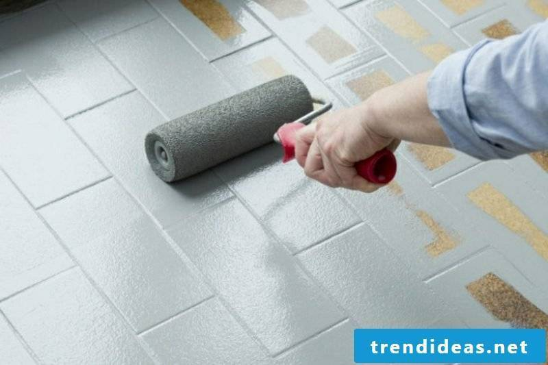 Floor tiles paint guide