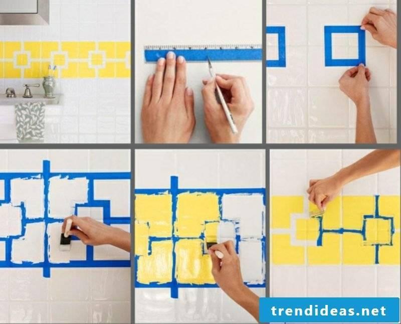 Wall tiles kitchen brushing tile joints renew