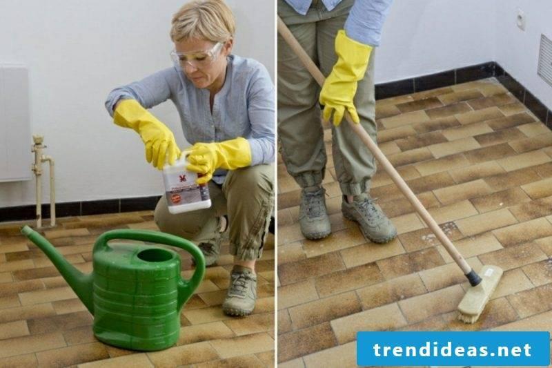 Renovate bathroom tiles Renew tile joints