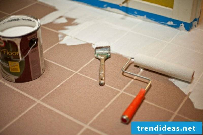 Bathroom tiles themselves paint necessary materials
