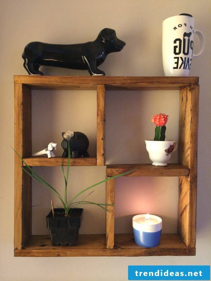 wall shelf from pallet pallet furniture build yourself