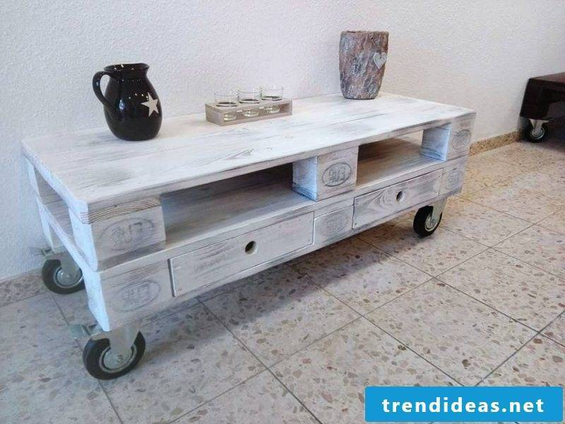 table from pallets build yourself white pallet furniture