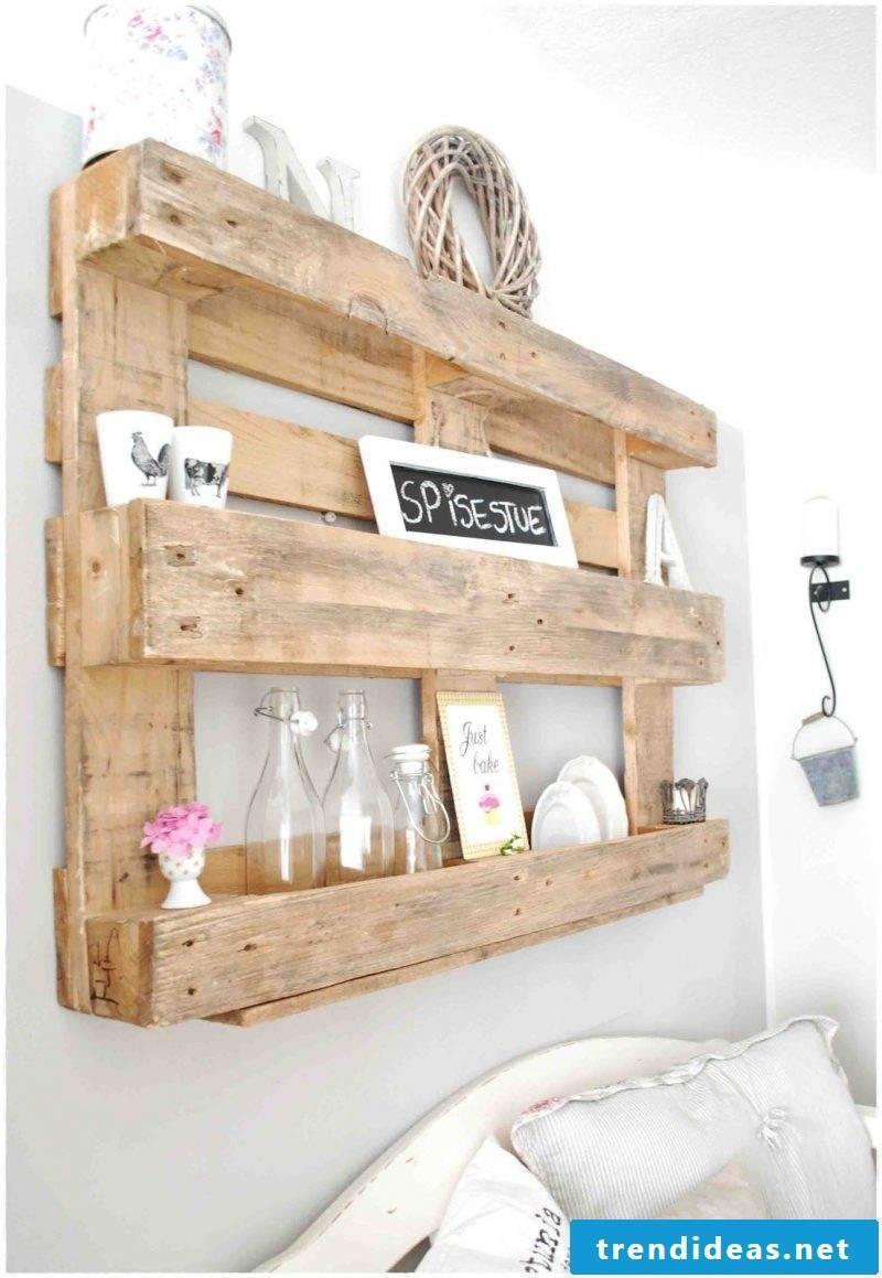 shelf of pallets build yourself bedroom furnish craft ideas pallet furniture