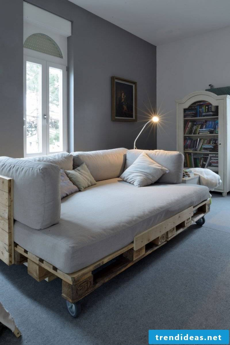 sofa bed from pallets build furniture from pallets