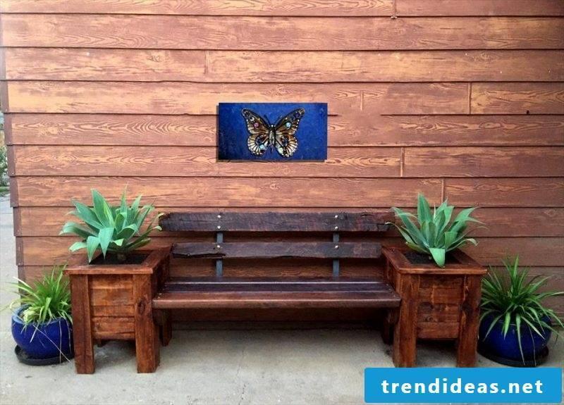 pallet furniture same build diy bench from pallets brown