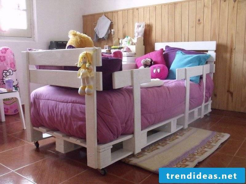 bed of pallets white children's room pallet furniture build yourself