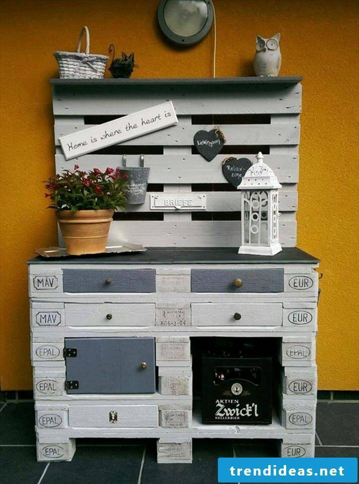 shelf of pallets own build cabinet of pallets pallet furniture white