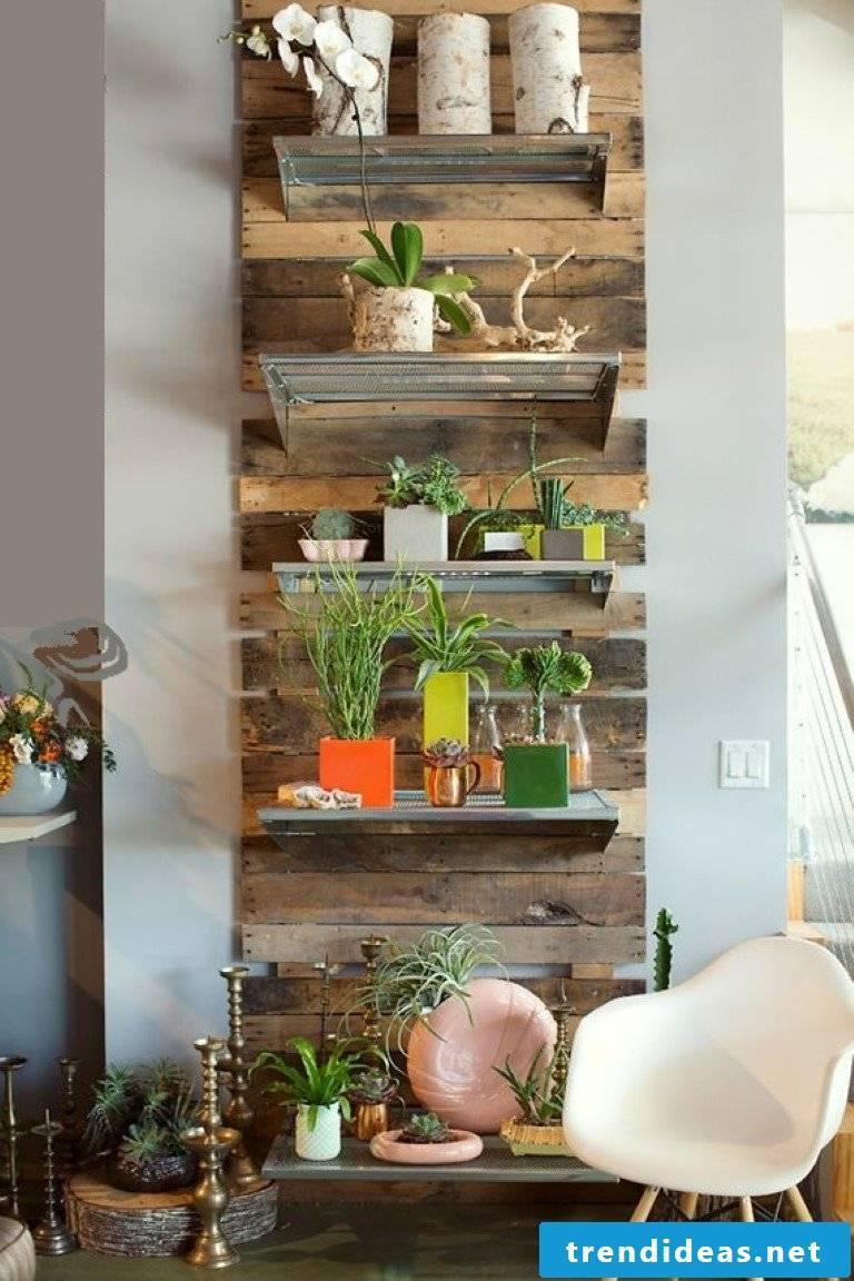garden wall design palette furniture craft ideas