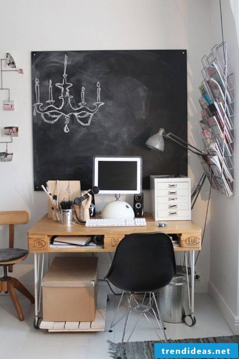 Office furniture made of pallet pallet furniture