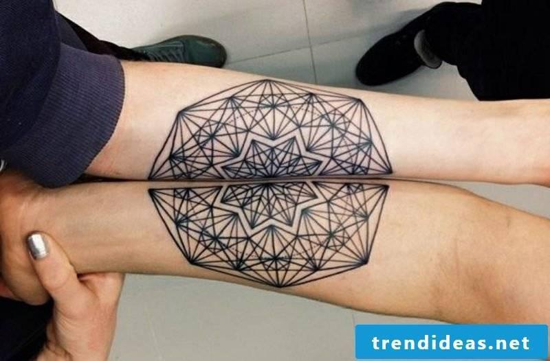 Partner Tattoos Mandala tattoo on the forearm