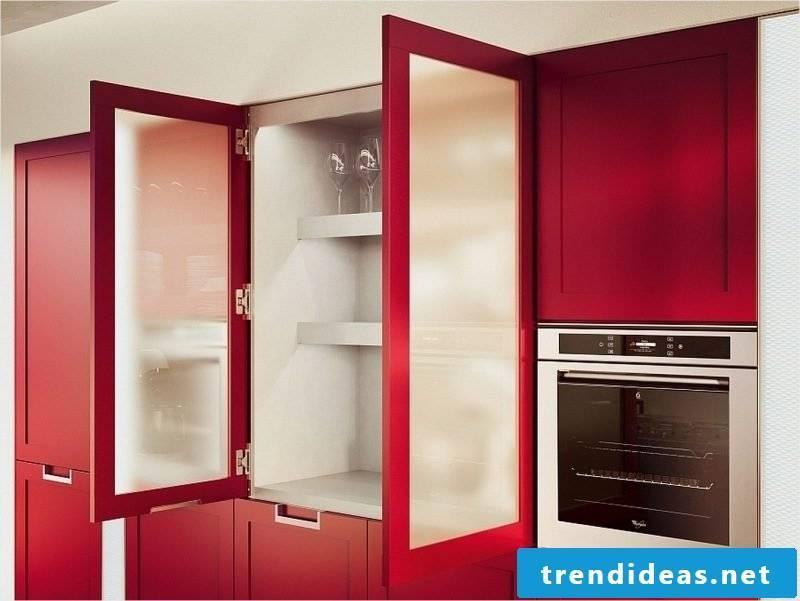 kitchen fronts sticking red