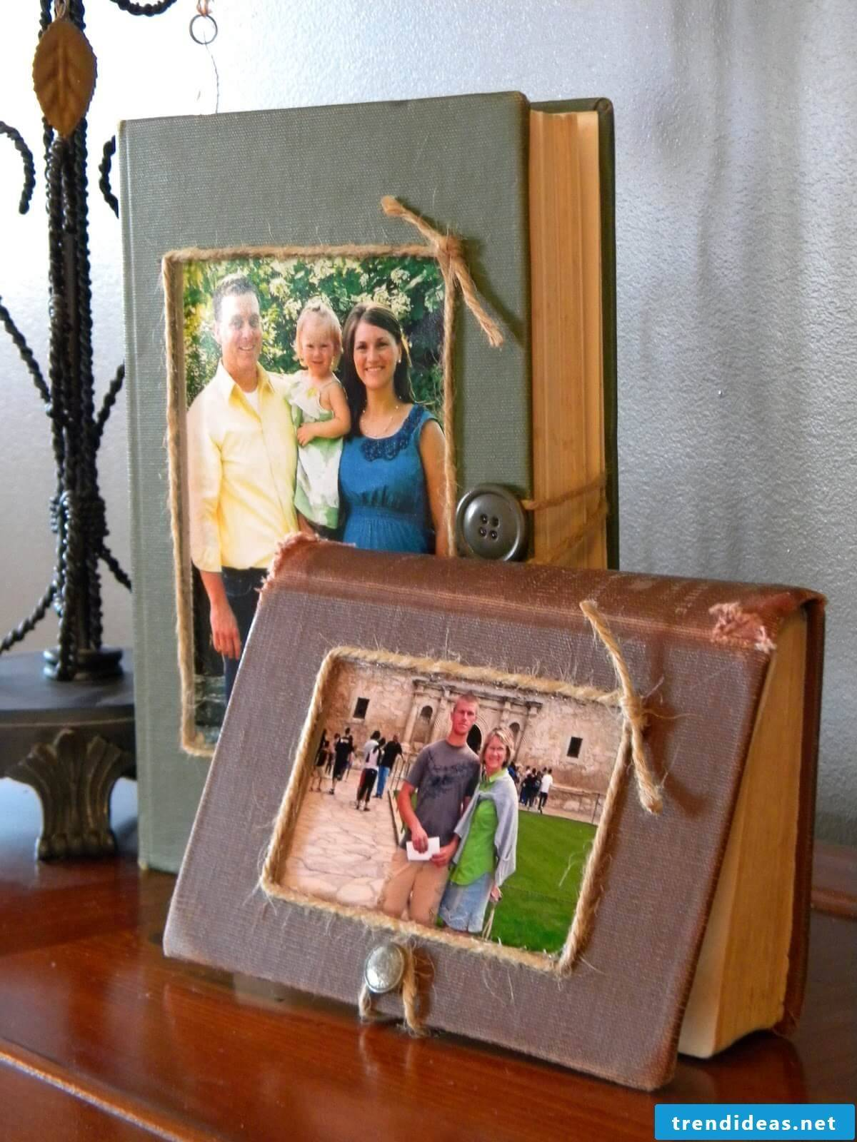 Make a creative picture frame yourself