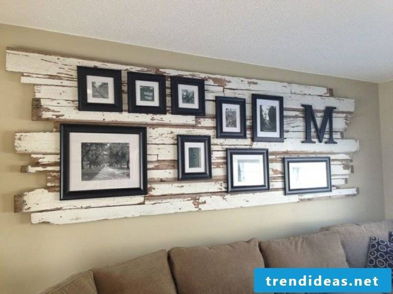 photo wall in the living room creative ideas