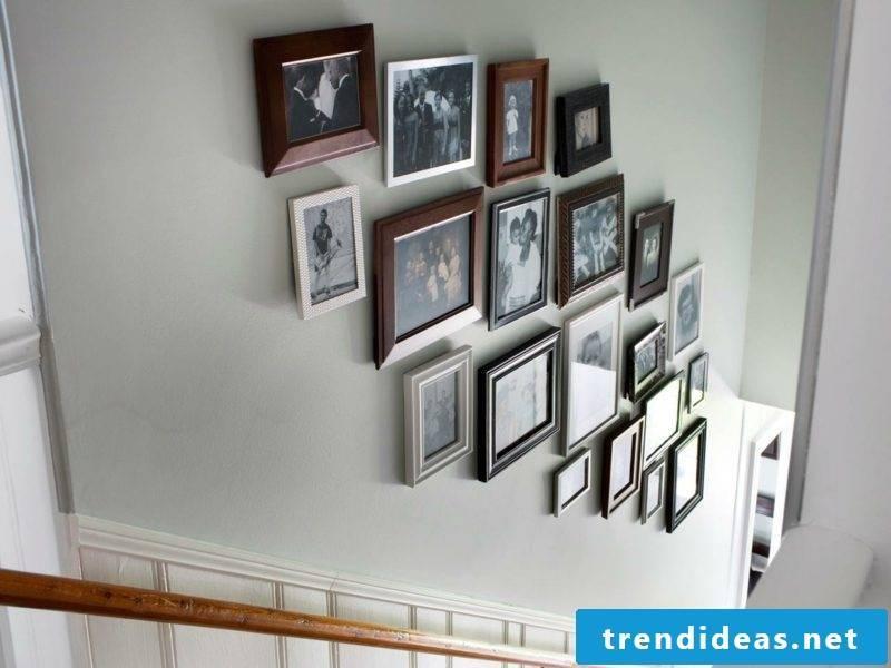 set up photo wall corridor