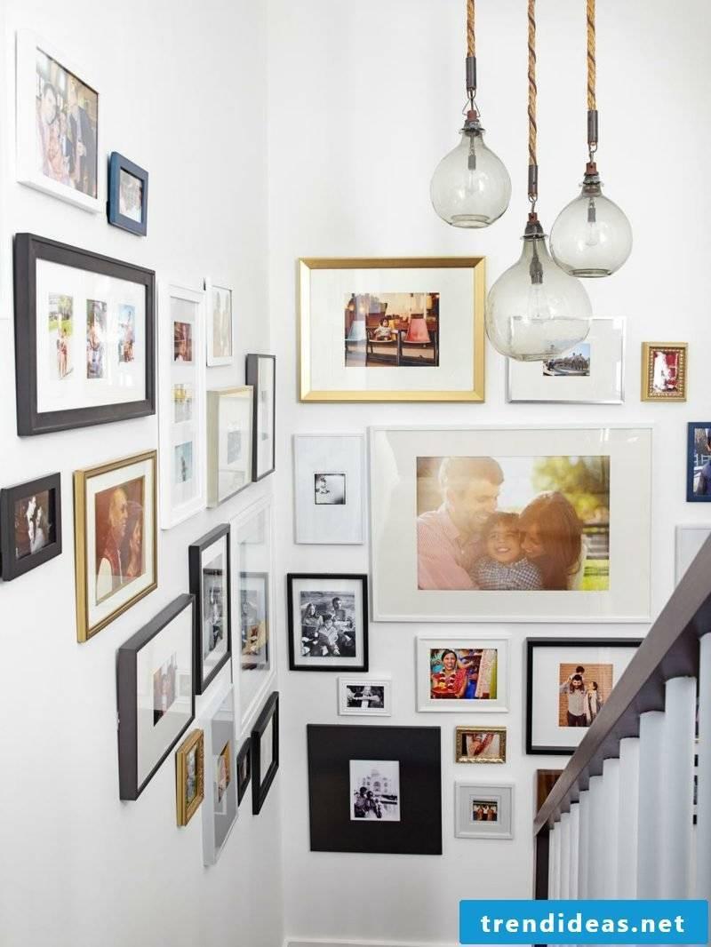 Photo wall shape staircase