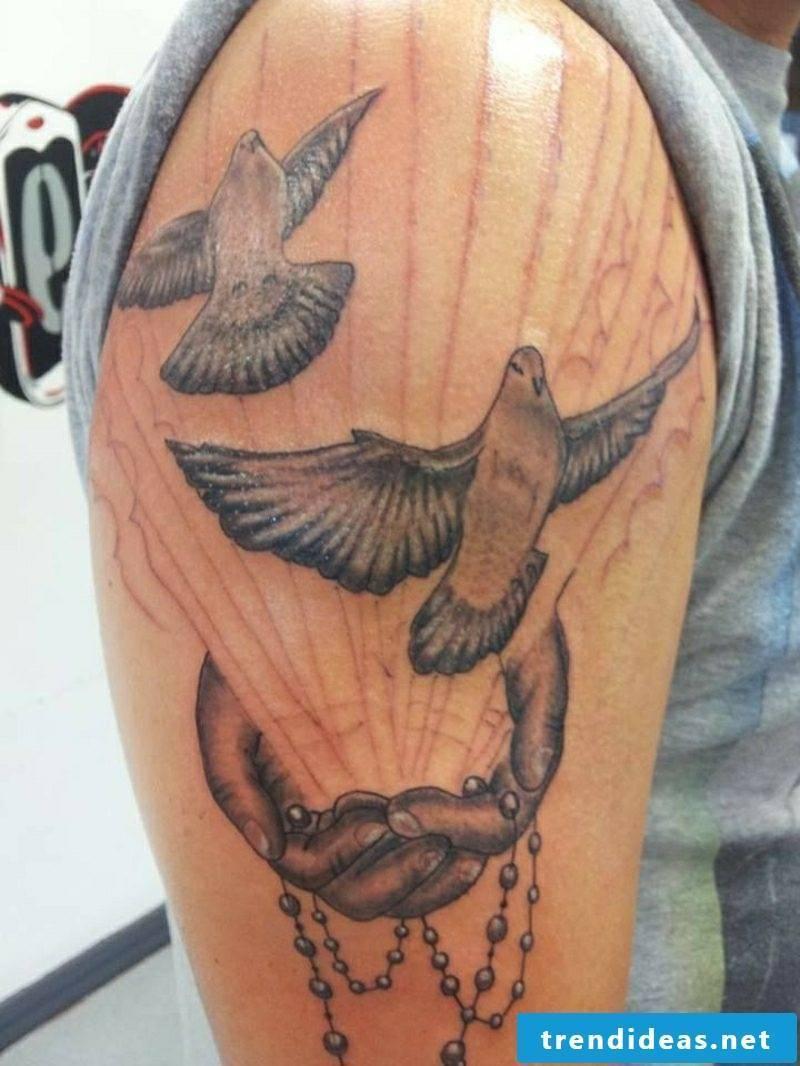 Deaf tattoo black and white