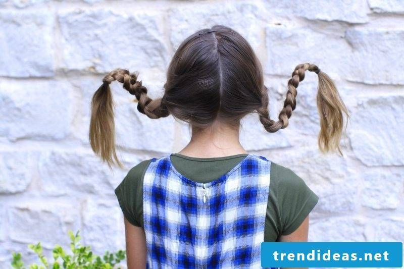 The Pippi Longstocking braids are so easy: DIY instructions