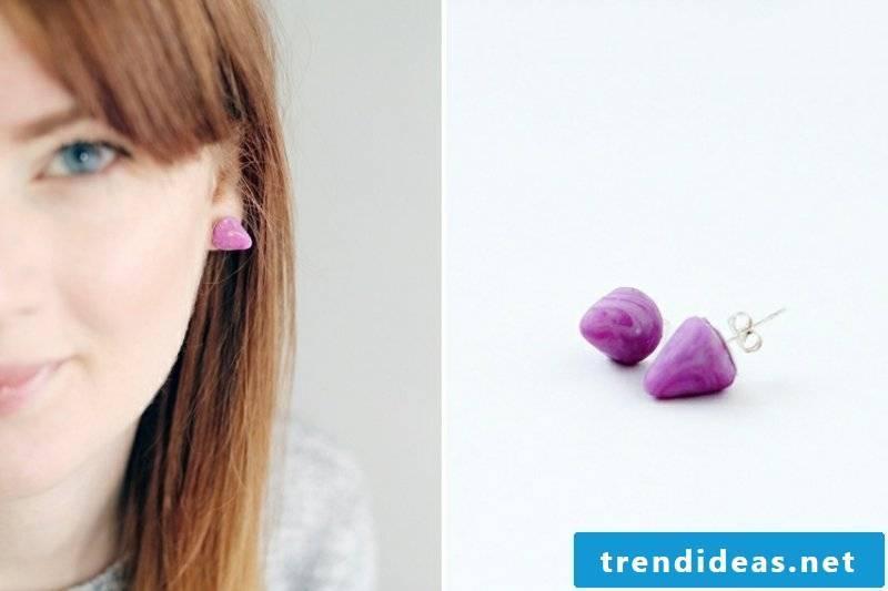 Polymer clay jewelry earrings