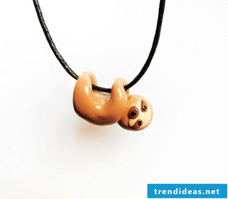 Chain polymer clay jewelry