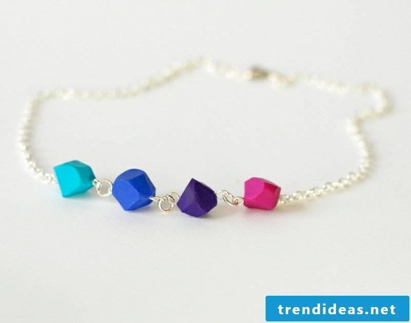 Polymer clay jewelry chain