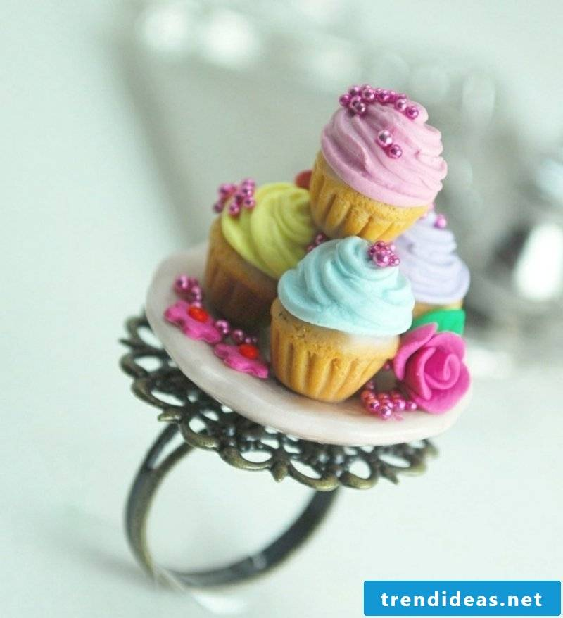 Polymer clay jewelry ring