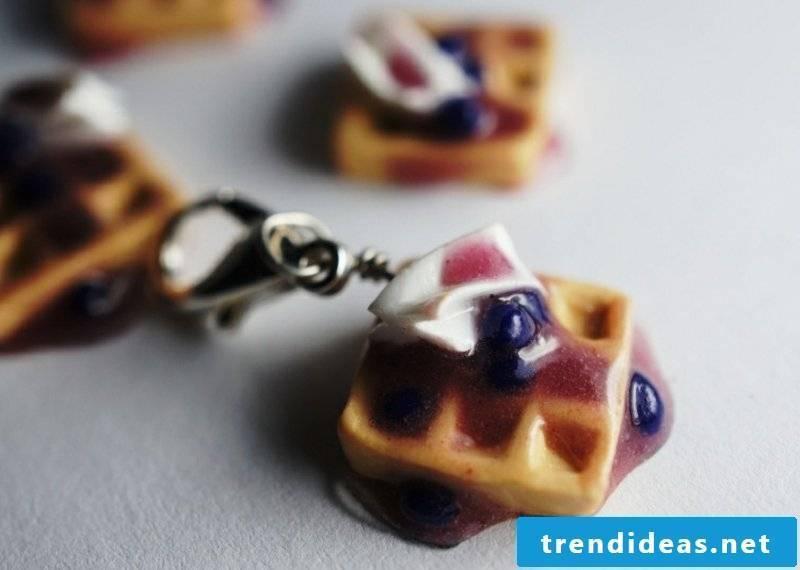 Polymer clay jewelry Pfankuchen