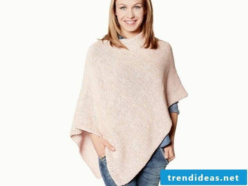 Poncho knit winter clothing women's fashion
