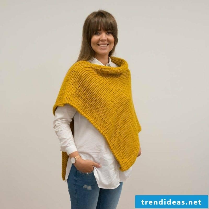 Poncho scarf creative knitting ideas