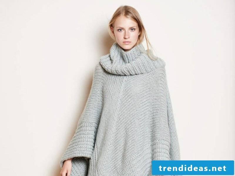 Poncho knit women's winter fashion