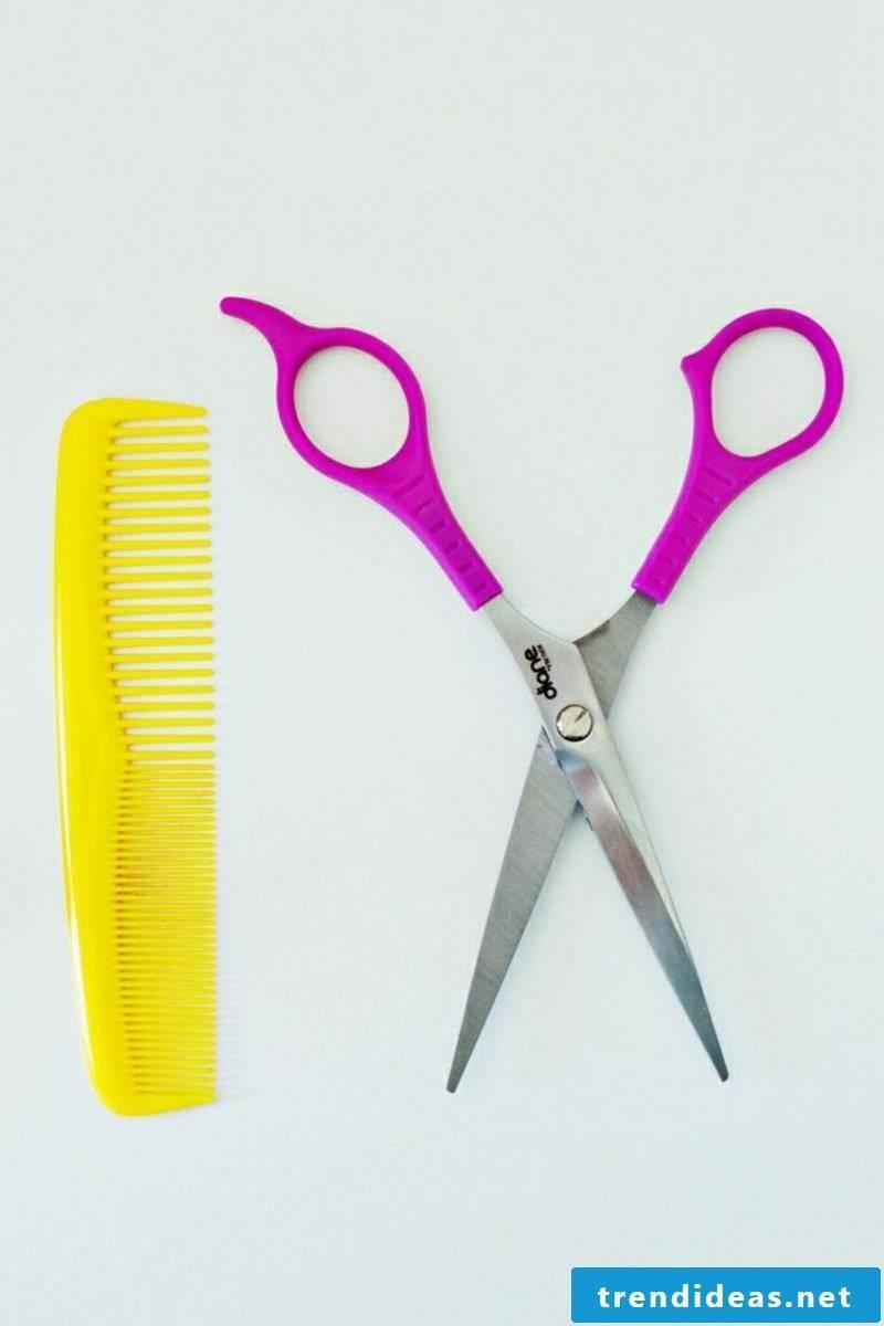 Pony cutting scissors and comb