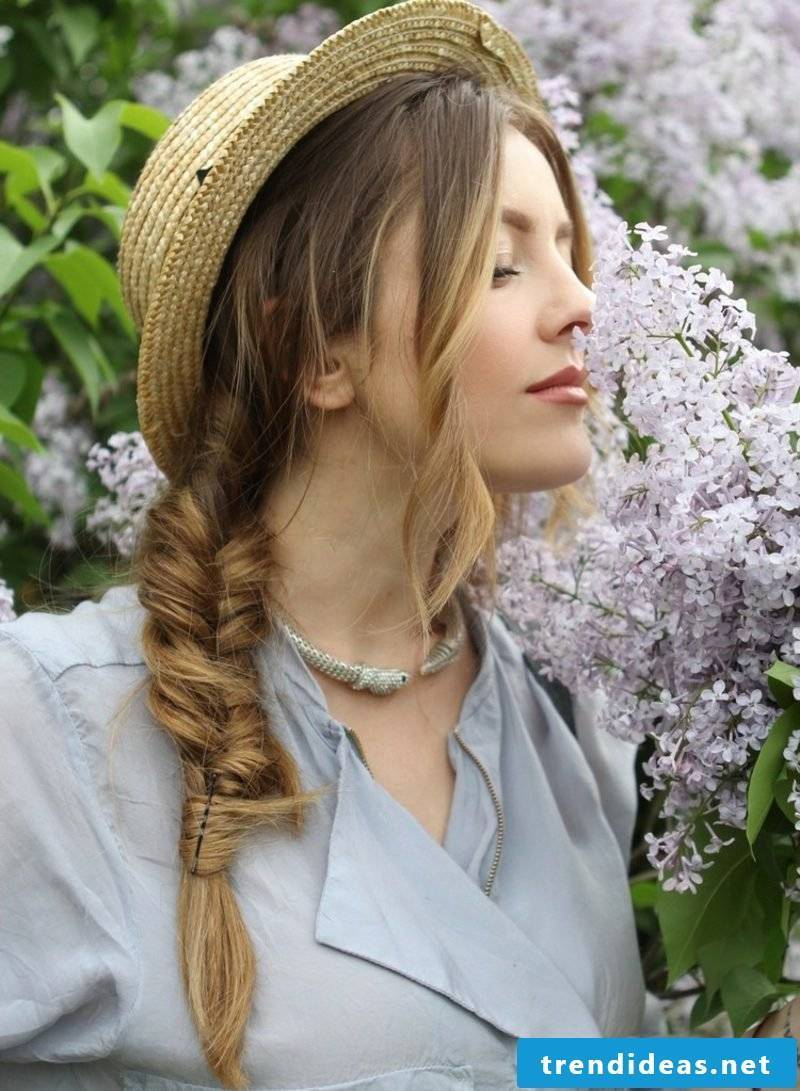 Long hairstyles women herringbone braid