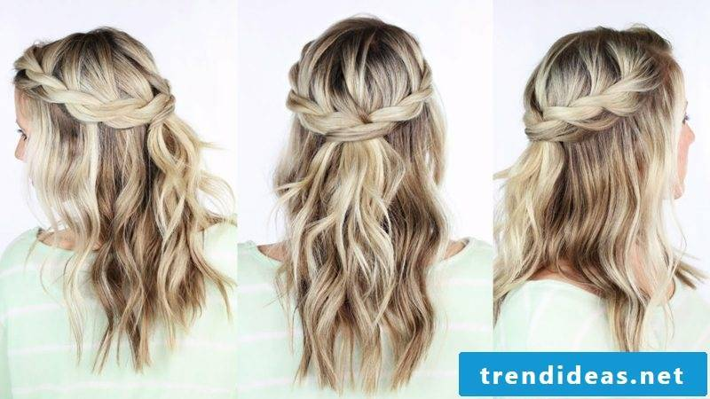 Haircut Long Twisted Crown Hairstyle