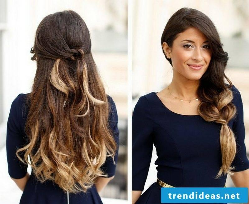 Long hairstyles semi-open elegant look
