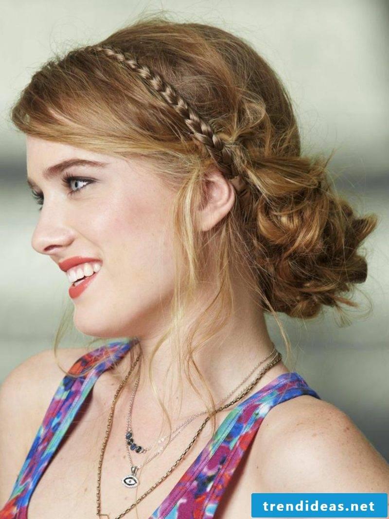 practical long hairstyles braided plait bun