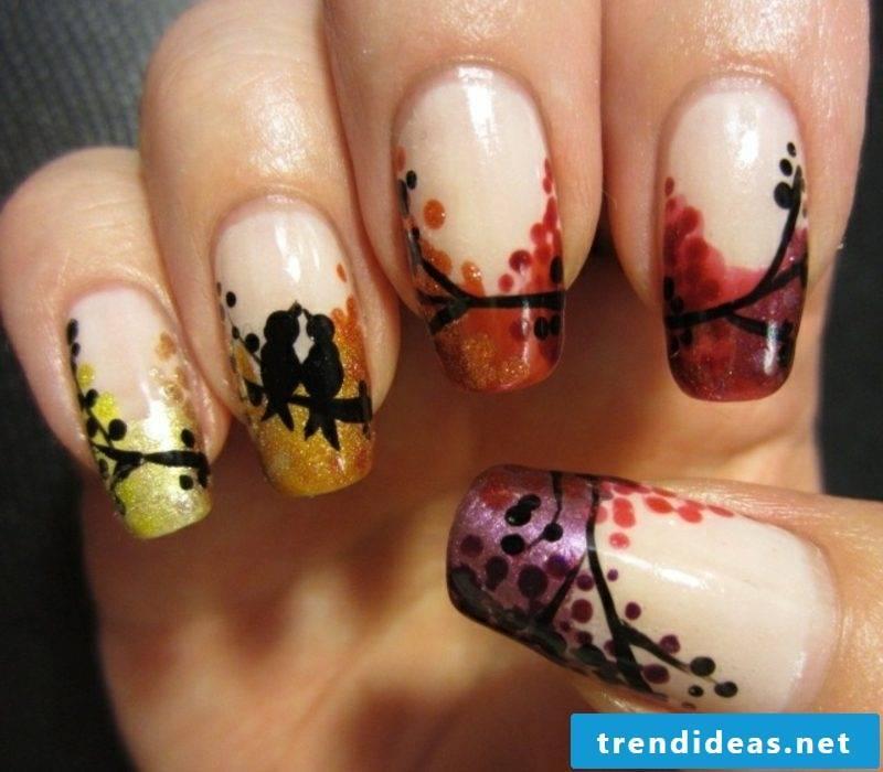 original nail design autumn