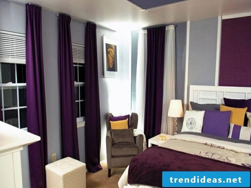 eye-catching beautiful purple window curtains