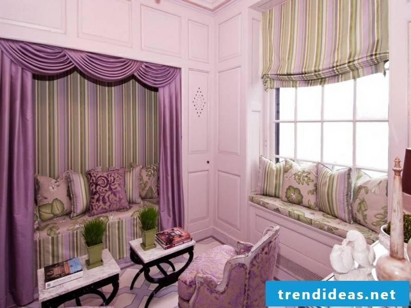vintage window curtains in the bedroom