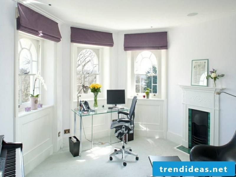 beautiful story purple window curtains