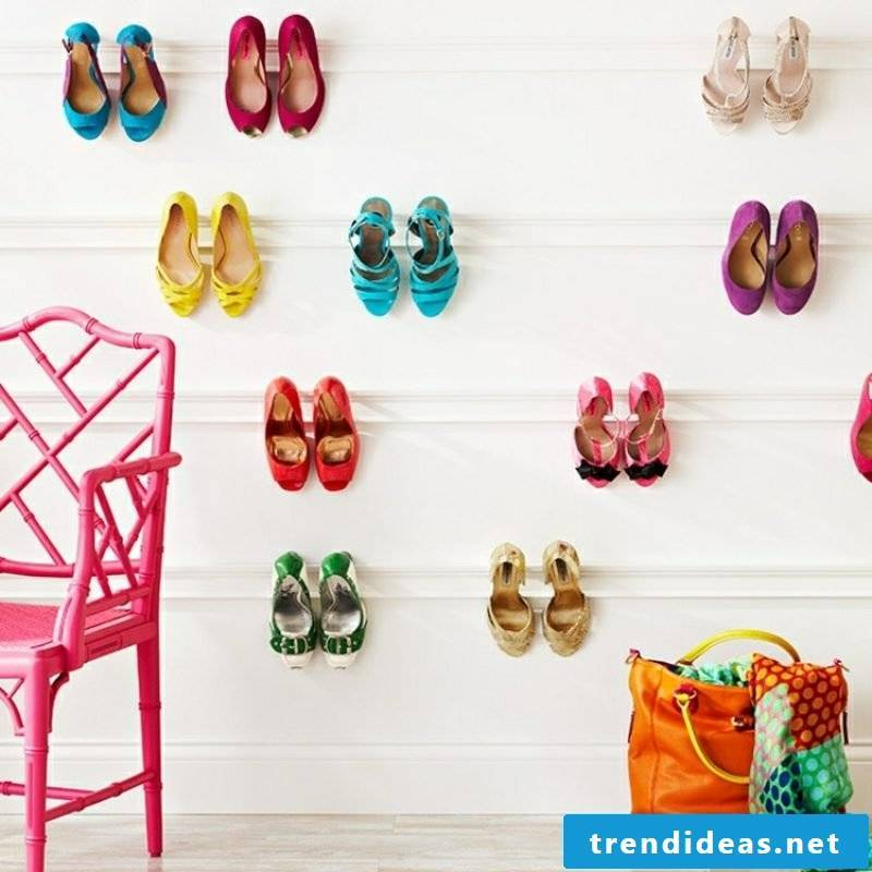 Build shelves yourself for shoes