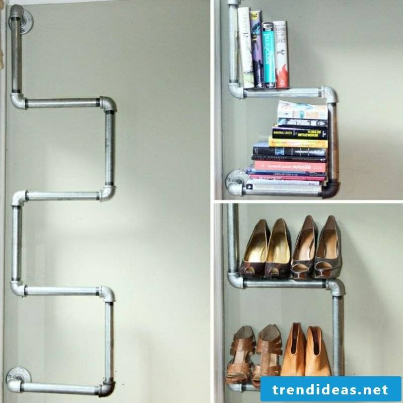 Tube as a shoe rack creative ideas