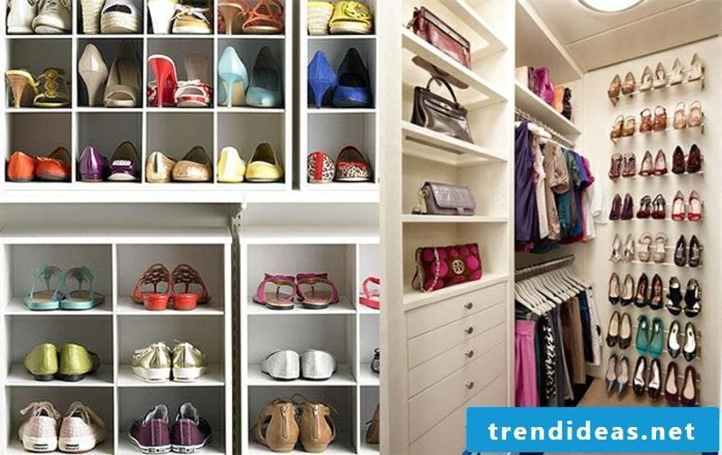 large shoe cabinet built himself